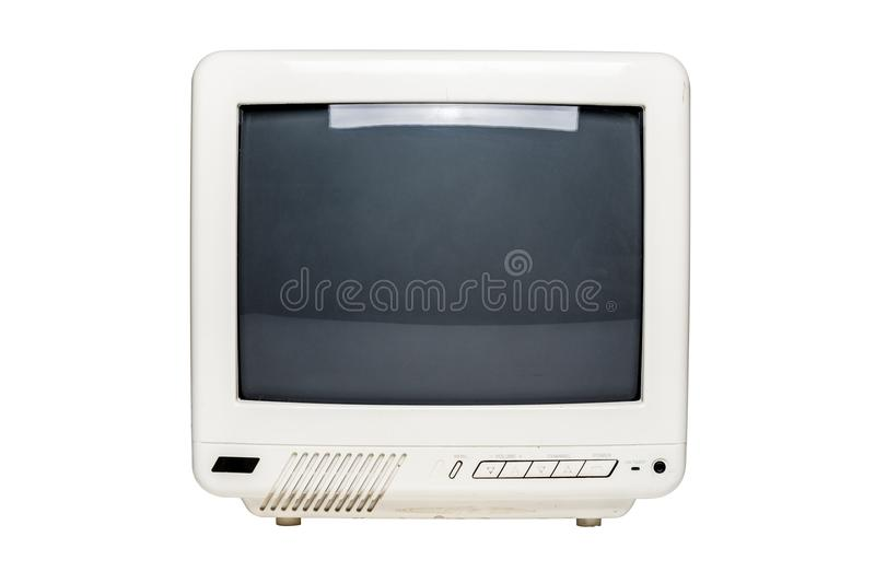 Small Vintage Television Set with Blank Screen royalty free stock photos