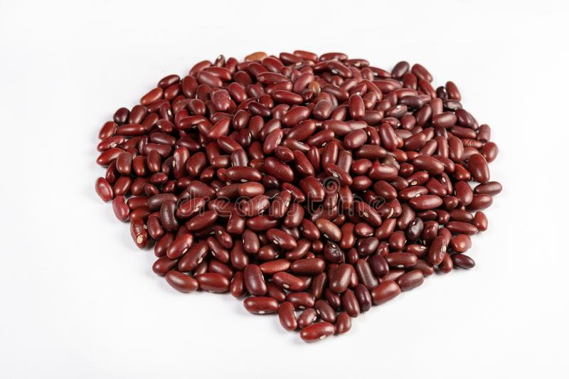 Isolated Pile Of Raw Red Beans royalty free stock photography