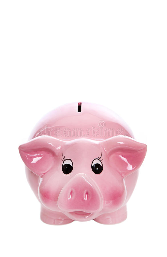 Isolated pink piggy box for concepts. Isolated pink piggy box for financial concepts stock photography