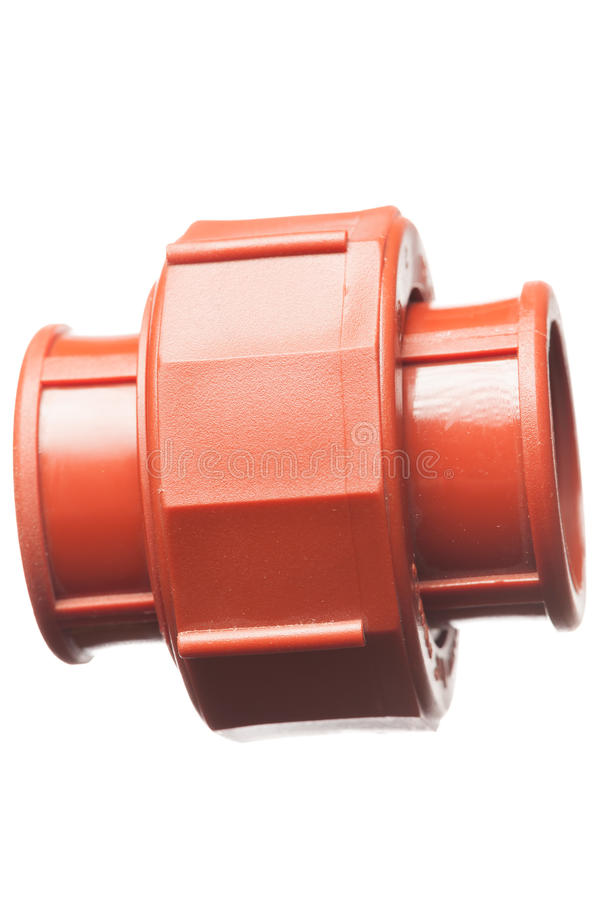 Isolated Pipe Connector royalty free stock image