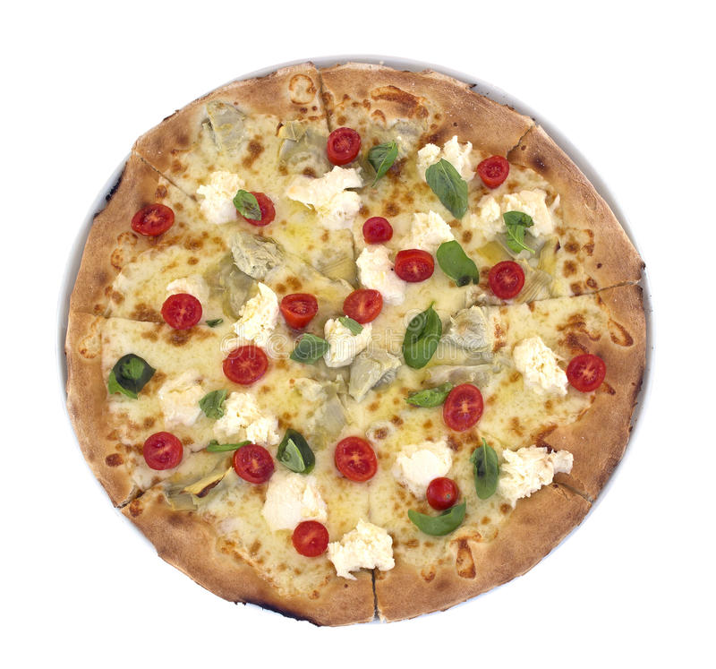 Isolated pizza royalty free stock images