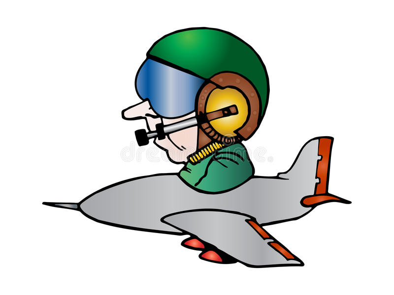 Download Isolated Plane Steering By A Pilot Stock Illustration - Illustration of corporate, gear: 13944529