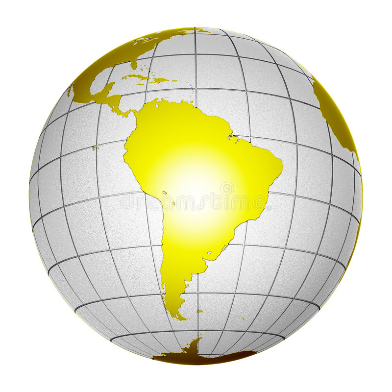 Download Planet Globe Earth 3D Isolated Stock Illustration - Image: 2814819