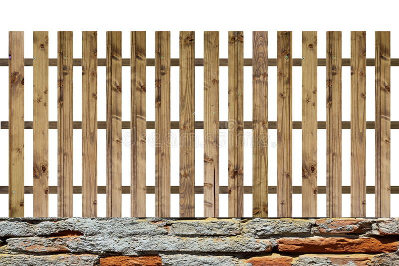 Isolated planks fence royalty free stock photography