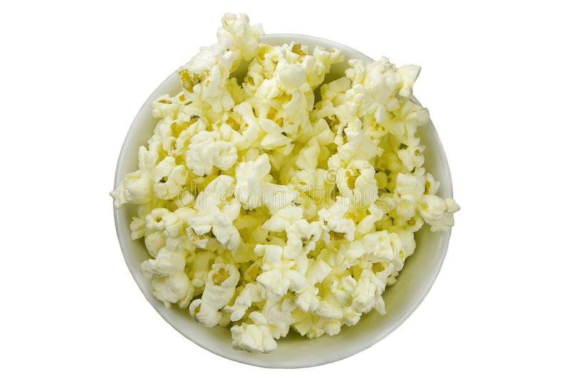 Isolated popcorn bowl stock photo