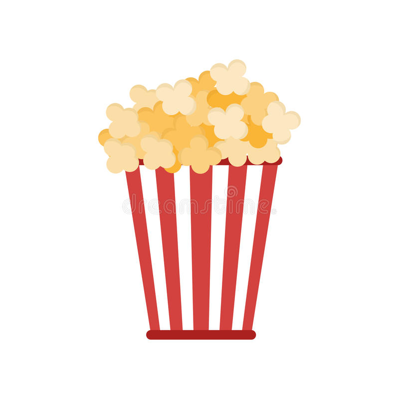 Isolated popcorn snack royalty free illustration