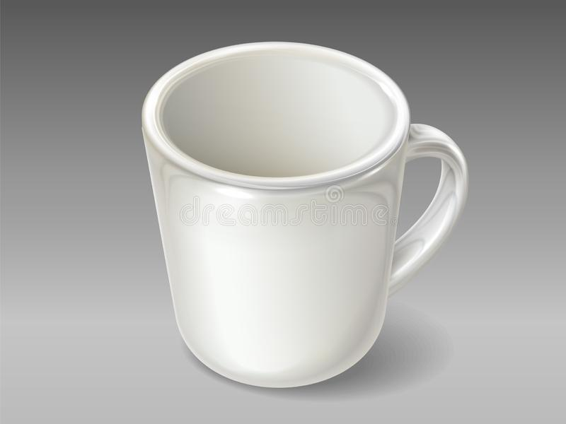 Isolated porcelain cup for tea or coffee vector illustration