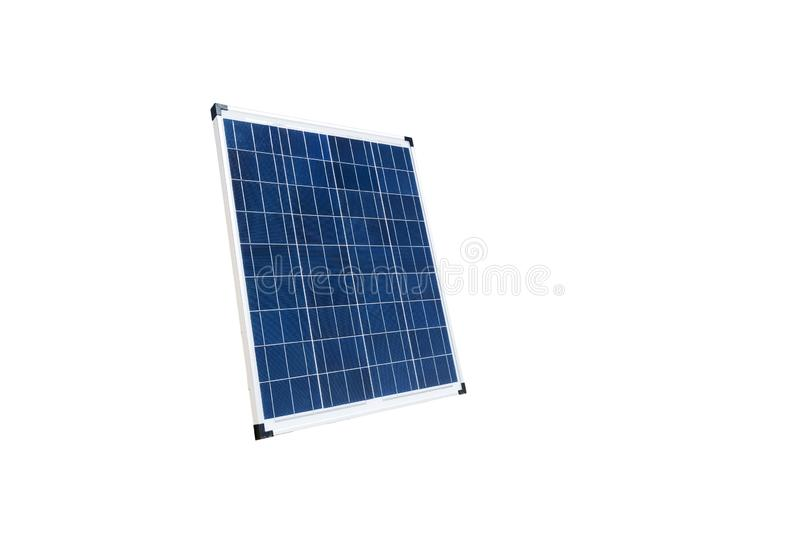 Portable Solar panel cell in against white background stock photography
