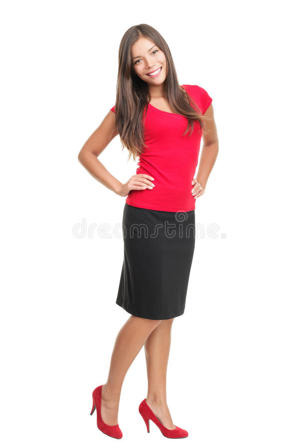 Free Isolated Portrait Of Woman In Full Length Royalty Free Stock Images - 13656149