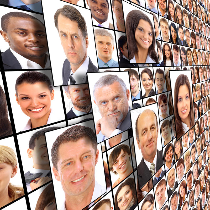 Download Isolated Portraits Of People Stock Photo - Image of many, confidence: 19587188
