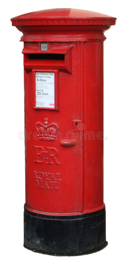 Download Isolated Post Box stock image. Image of isolated, post - 8845777