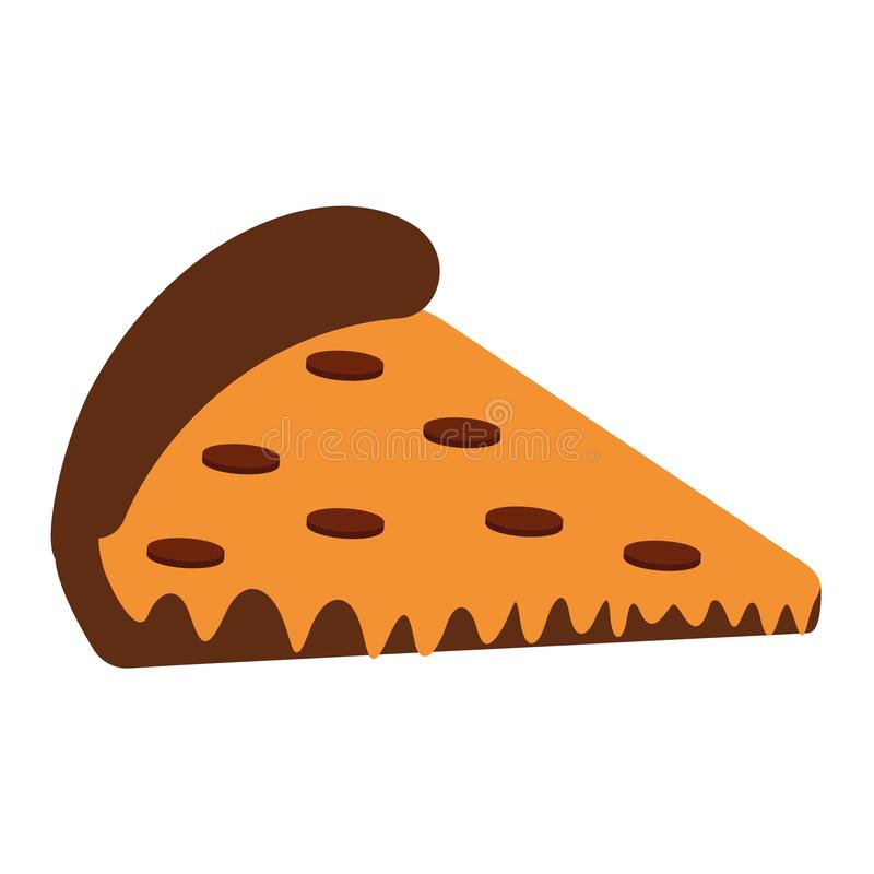 Isolated ppizza image. Over a with background - Vector stock illustration