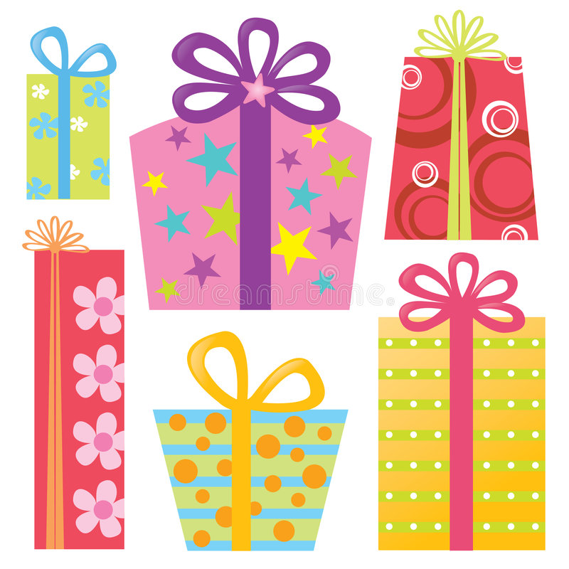 Isolated Presents/Gifts Set royalty free illustration