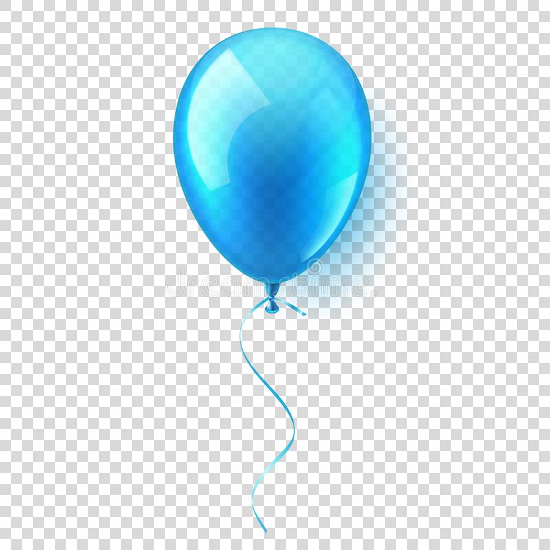 Isolated Realistic Colorful Glossy Flying Air Balloon. Birthday party. Ribbon.Celebration. Wedding or Anniversary.Vector. Illustration vector illustration