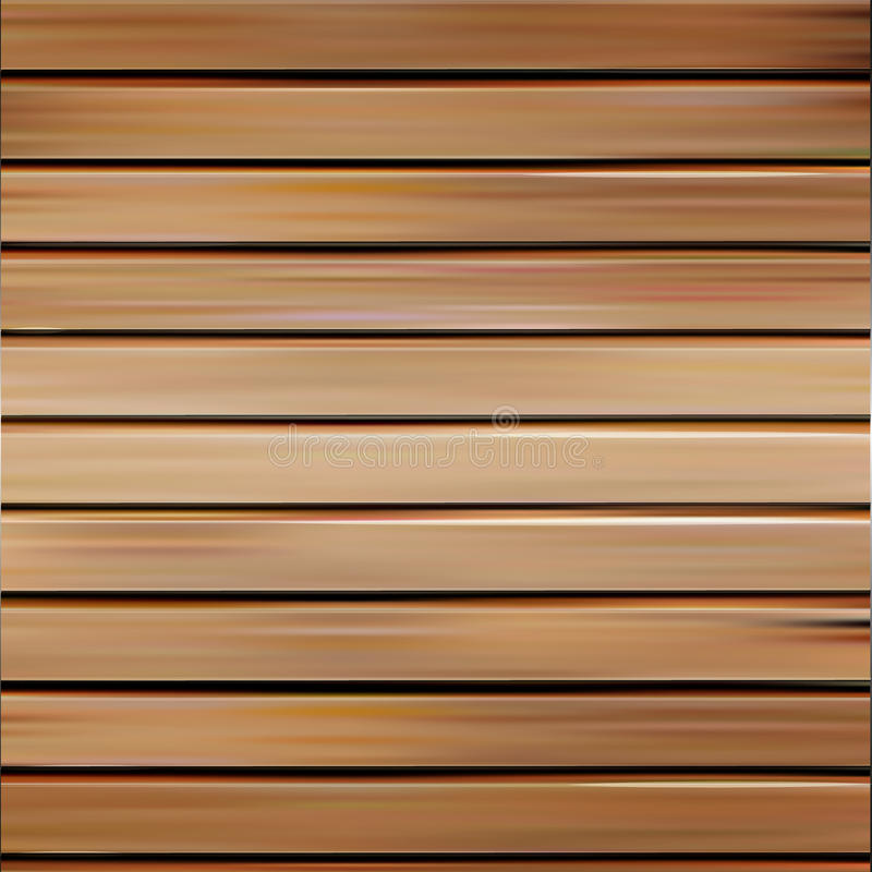 Isolated realistic seamless wooden texture vector illustration, horizontal boards background. vector illustration