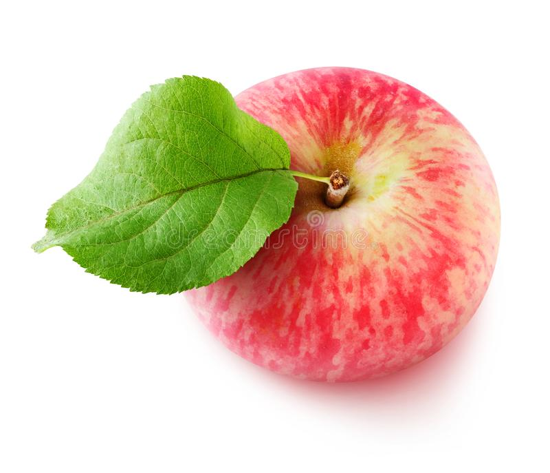 Isolated red apple from above stock images