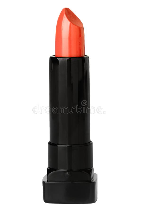 Isolated red shiny lipstick. Red shiny lipstick on a cut out view stock image