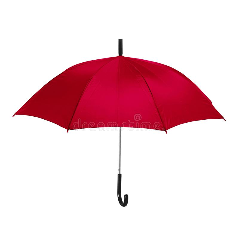 Isolated red umbrella in white background royalty free stock photos