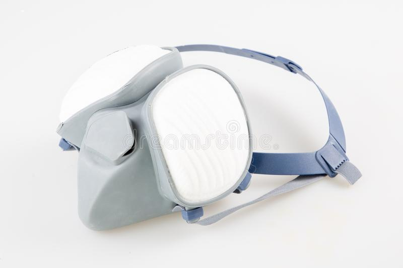 Isolated Respirator breath anti dust mask on white background royalty free stock photos