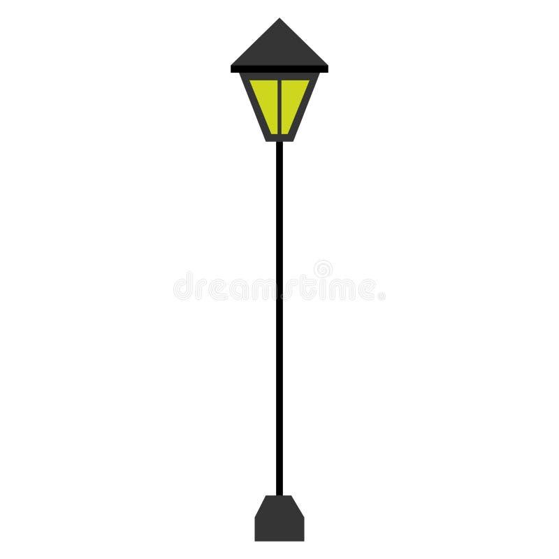 Isolated retro lamp post icon royalty free illustration