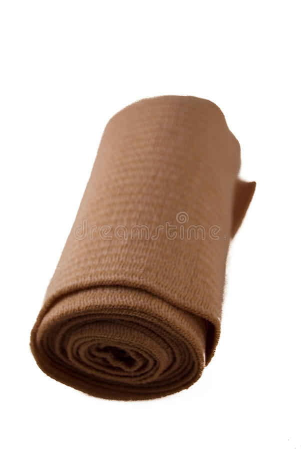 Isolated roll of Gauze stock photo