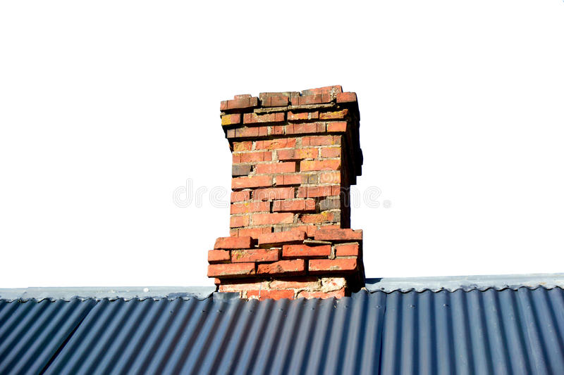 Isolated Roof Ridge with Chimney royalty free stock image