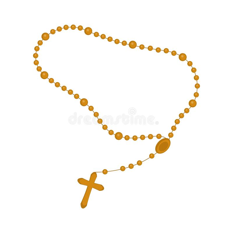 Rosary beads icon. Isolated rosary beads icon. Vector illustration design vector illustration