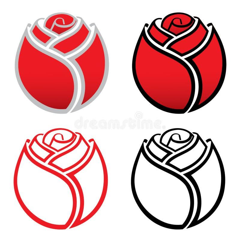 Free Isolated Rose Icons Royalty Free Stock Image - 26467866