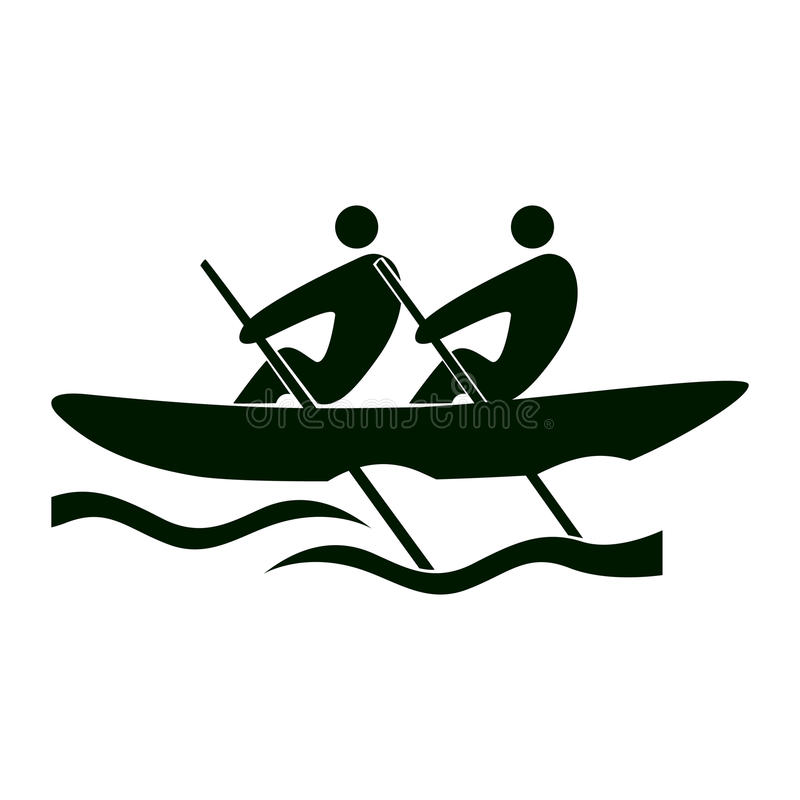 Isolated rowing icon. royalty free illustration