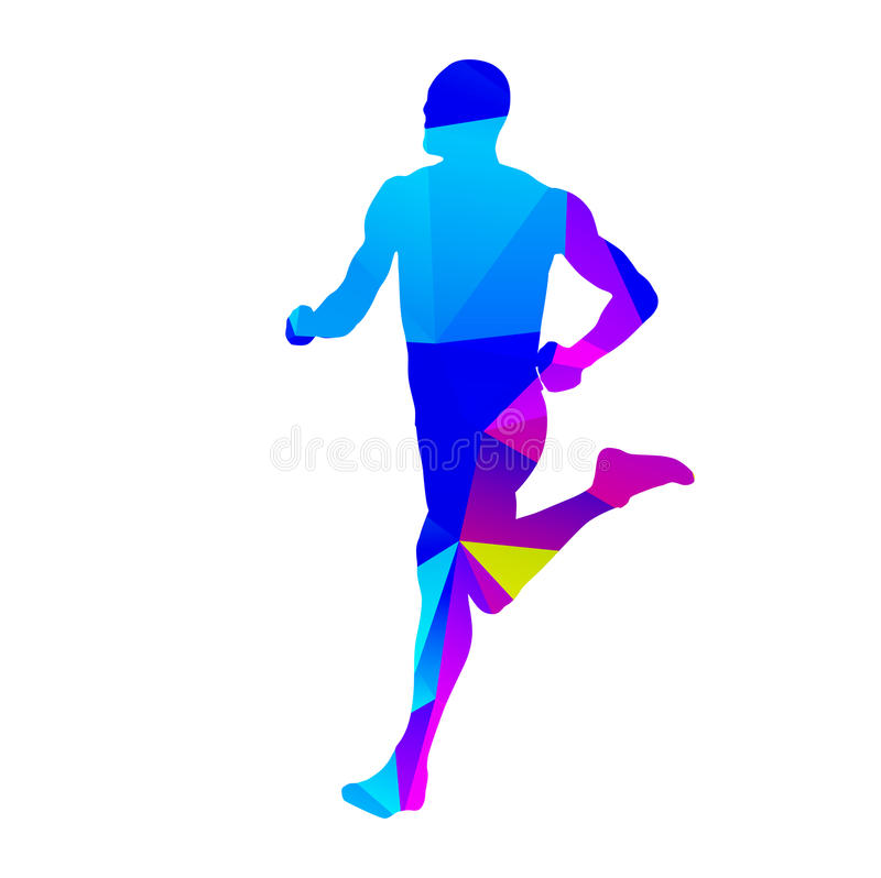 Isolated running man. Abstract vector isolated running man royalty free illustration