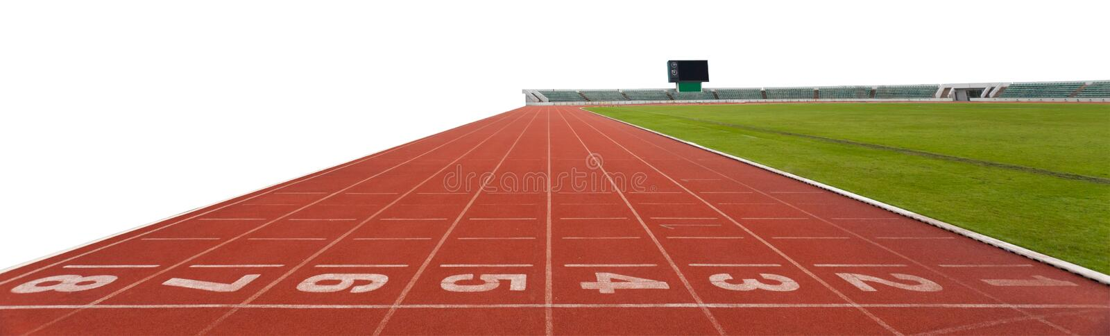 Isolated Running track royalty free stock photography