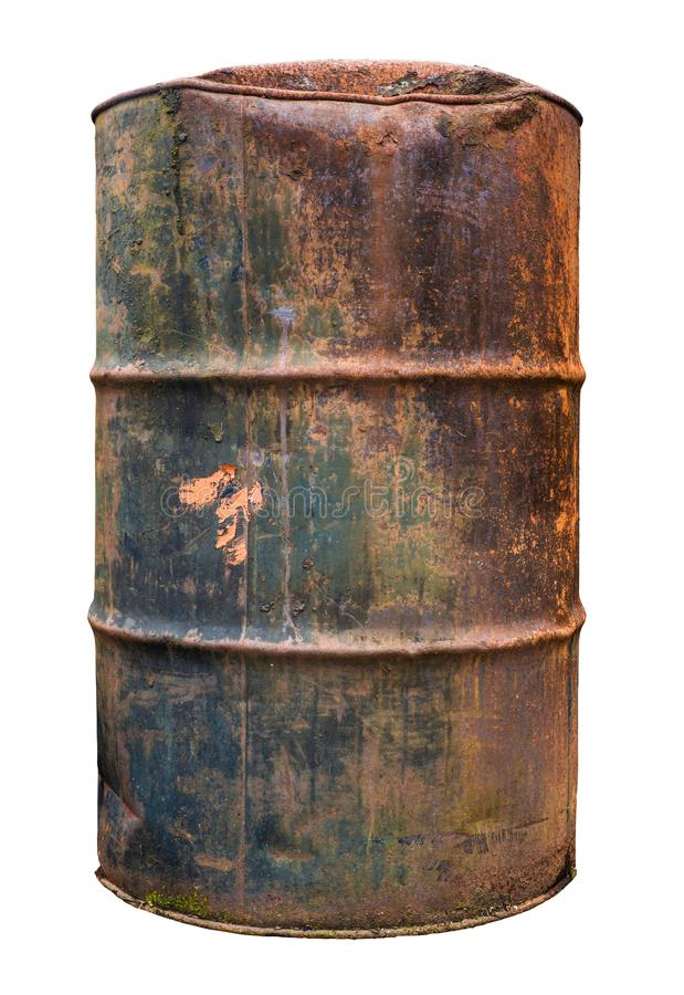 Isolated Rusty Old Barrel royalty free stock images