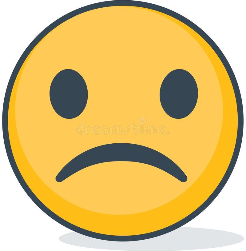 Isolated sad emoticon. Isolated emoticon. stock images