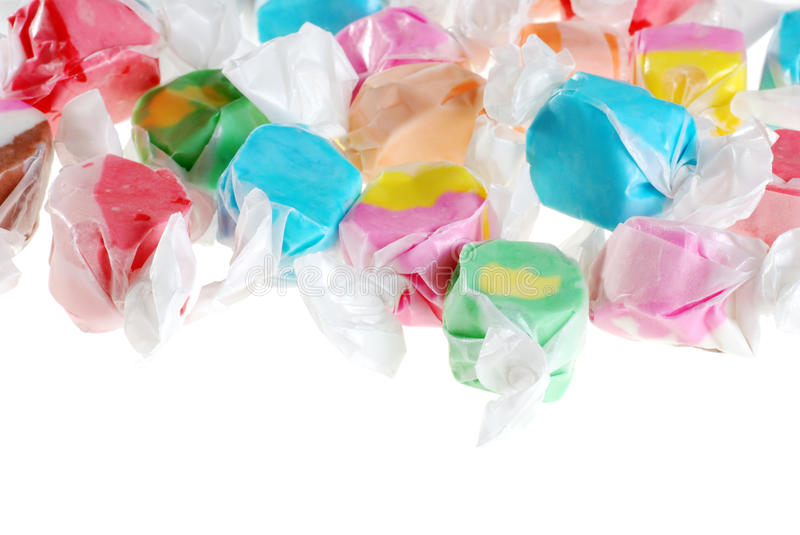 Isolated salt water taffy. On white background royalty free stock photos