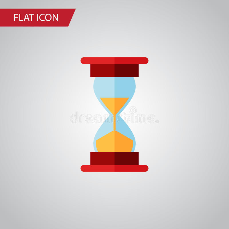 Isolated Sand Timer Flat Icon. Loading Vector Element Can Be Used For Hourglass, Sand, Timer Design Concept. stock illustration