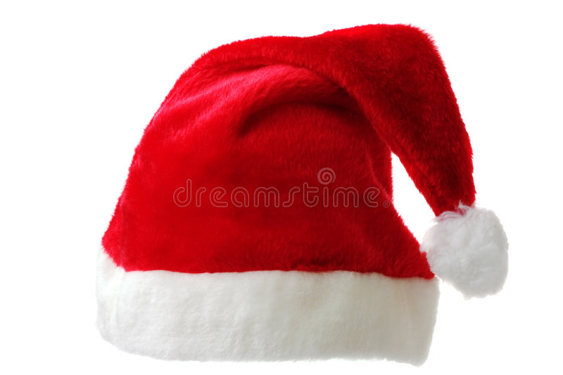 Isolated Santa Hat Stock Image
