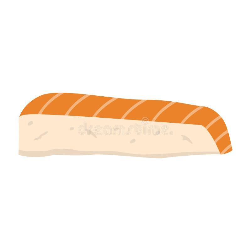 Isolated sashimi image. On a white background. Japanese food- Vector royalty free illustration