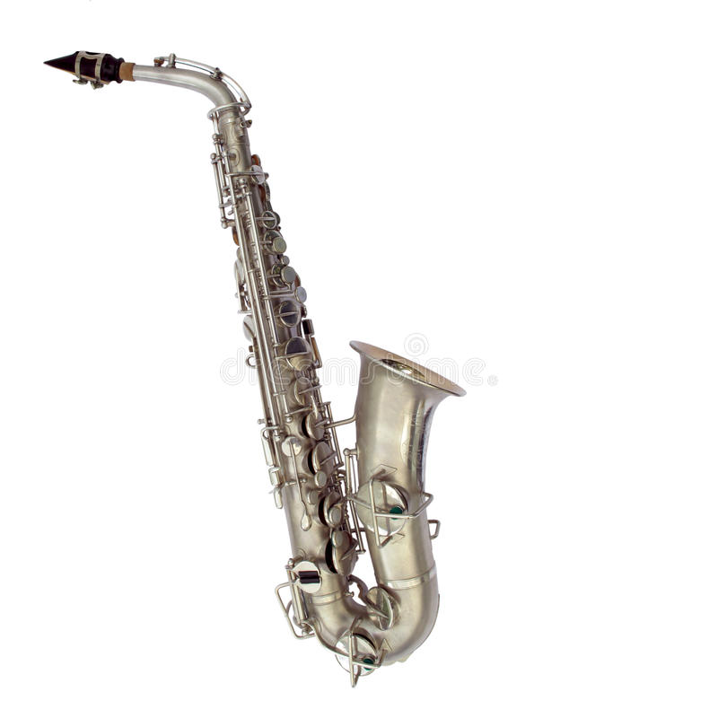Isolated Sax royalty free stock image