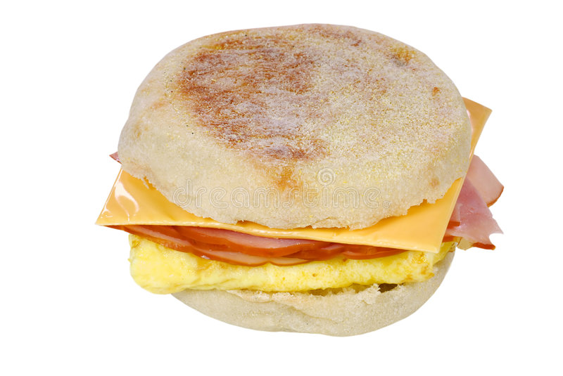 Download Isolated Scrambled Egg Ham Cheese Sandwich Stock Photo - Image: 5505284