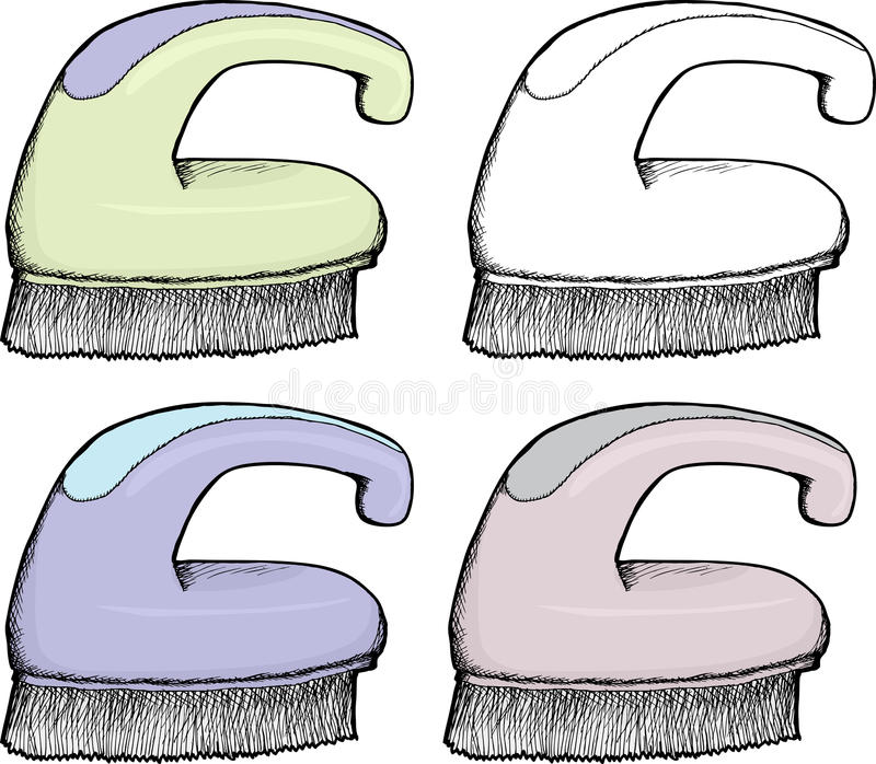 Download Isolated Scrub Brush stock vector. Illustration of drawn - 28595744