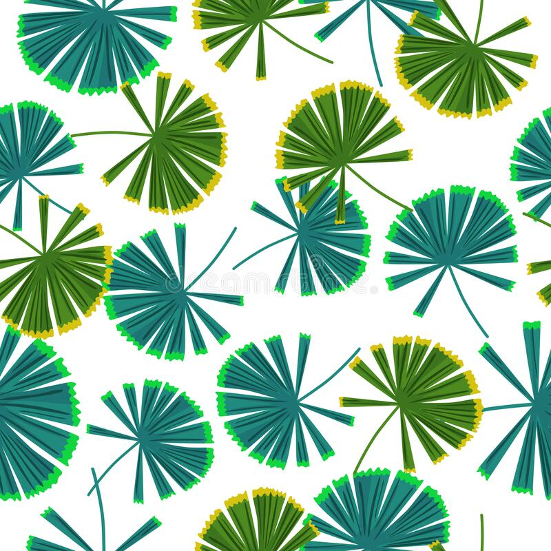 Free Isolated Seamless Pattern With Hand Drawn Palm Licuala Silhouettes Shapes In Green And Blue Colors Royalty Free Stock Photos - 218638098