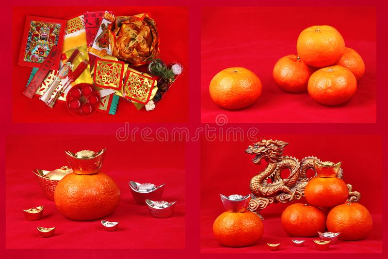 A series of preparation for god of fortune worship. stock photography