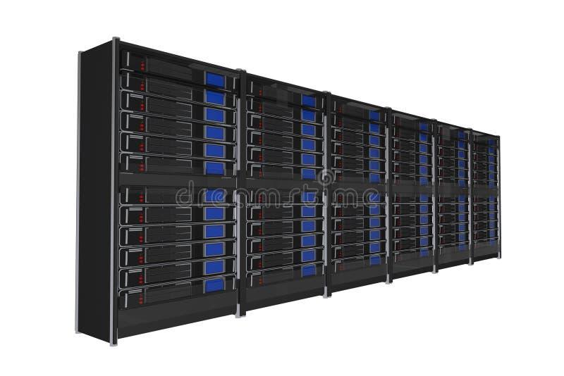 Isolated Servers Rack stock illustration