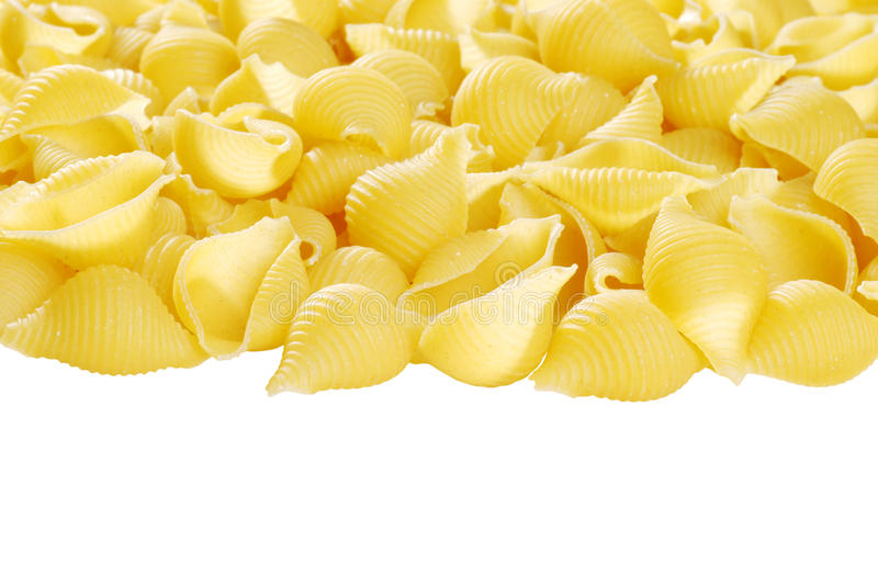 Isolated shell pasta royalty free stock photography