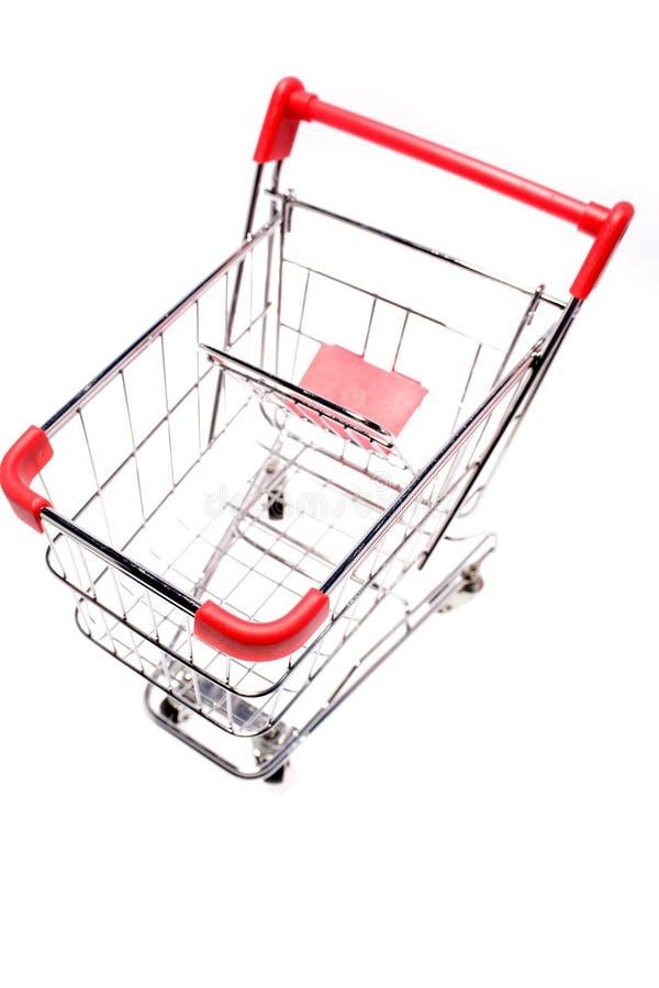 Download Isolated shopping cart stock image. Image of white, single - 6885551