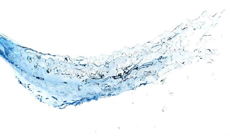 Isolated shot of blue water splashing. Isolated shot of blue fresh water splashing stock image