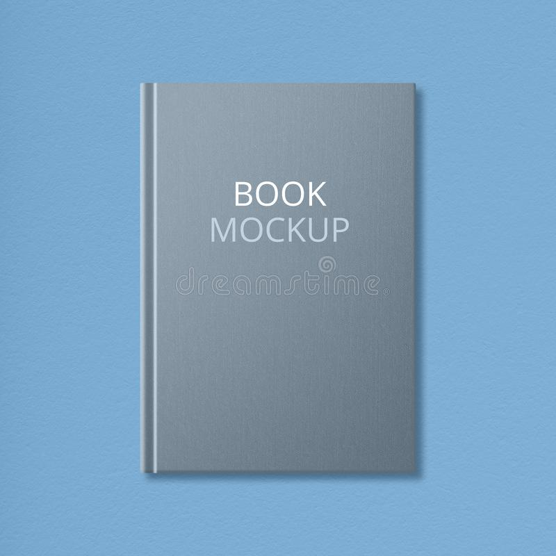 Isolated shot of grey mock up book with empty space on hardcover for your advertising content or image. Literature stock images
