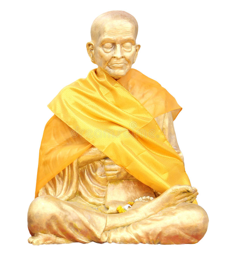 Download Isolated Shot Of Statue Of Buddhist Monk Stock Photo - Image: 26653584