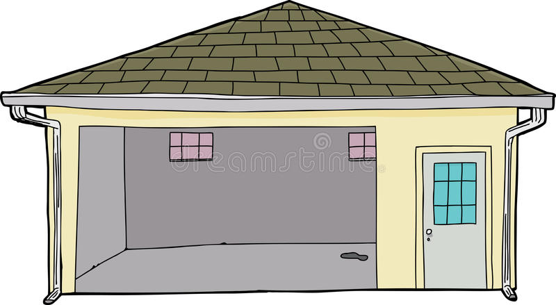 Good Download Isolated Single Open Garage Stock Illustration   Illustration Of  Floor, Drawn: 50458957
