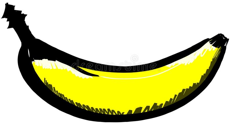 Download Isolated Sketch Of A Banana Stock Illustration - Image: 42476559